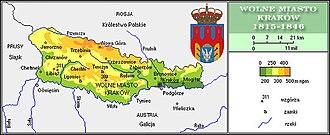 Grand Duchy of Kraków - Plan of the Free City of Kraków, 1815-1846