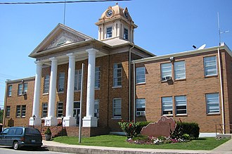 Campton, Kentucky - Wolfe County courthouse in Campton