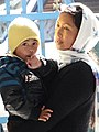 Woman and Child at Train Station - Darjeeling - West Bengal - India (12432034434).jpg