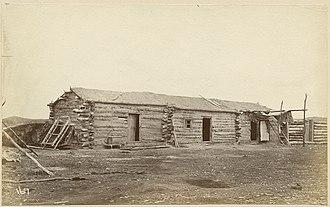 Wood Mountain, Saskatchewan - Building at the Wood Mountain Métis settlement in 1874