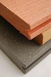 کامپوزیت چوب پلاستیک - ویکیپدیا، دانشنامهٔ آزادWood plastic composite.JPG