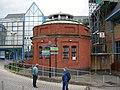 Woolwich Foot Tunnel, Entrance to Southern Shaft - geograph.org.uk - 453607.jpg