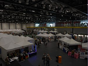 72nd World Science Fiction Convention - The Loncon fan village, where the bids had their tables and bid parties.