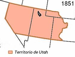El Territorio de Utah en 1851.
