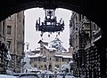 Wrought iron chandelier, Coppedè district (1916-1923), Rome.jpg