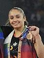 XIX Commonwealth Games-2010 Delhi Winners of Women's Gymnastics Vault progress, May Gabby of Canada.jpg