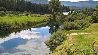 Yaak River - Image: Yaak River at Yaak, Montana