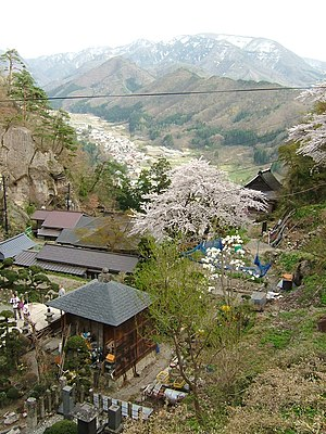 The view in spring from near the upper-most te...