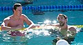 Yannick Agnel & Michael Phelps after 200m freestyle (18978764025).jpg