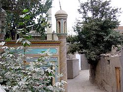 Uma rua em Yarkant