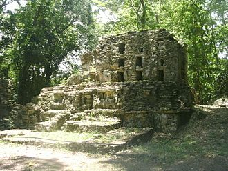 Yaxchilan - Structure 6, south façade
