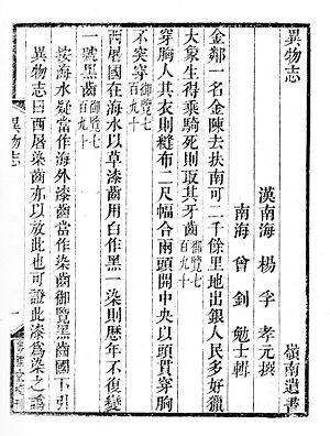 Yiwu Zhi - Image: Yiwuzhi 2