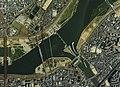 Yodogawa Ozeki weir Aerial photograph.1985.jpg