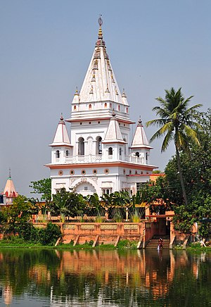 Nabadwip - The temple at Chaitanya Mahaprabhu's birthplace in Mayapur near Nabadwip, established by Bhaktivinoda Thakur in 1880s.
