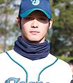 Yota Kosugi, pitcher of the Yokohama BayStars, at Yokosuka Stadium..JPG