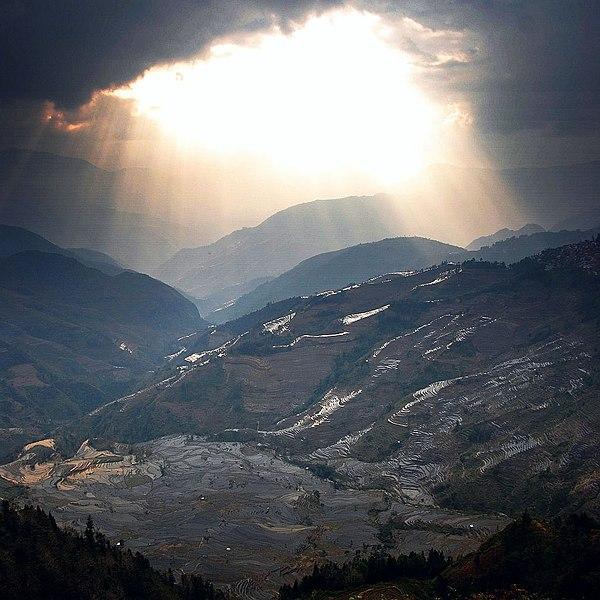 File:Yuanyang sunset rice terraced mountain.jpg