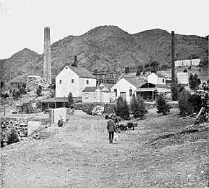 Yudnamutana, South Australia - Historic copper smelters of Yudnamutana (1910)