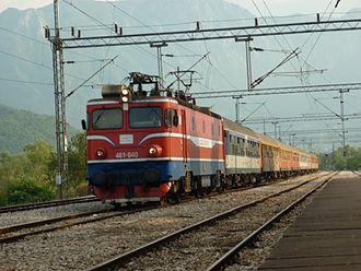 Belgrade–Bar railway - Image: ZCG461 Virpazar
