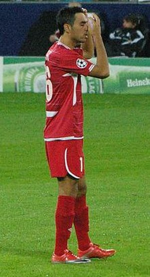 Eran Zahavi - Zahavi before the match with Hapoel Tel Aviv 2010