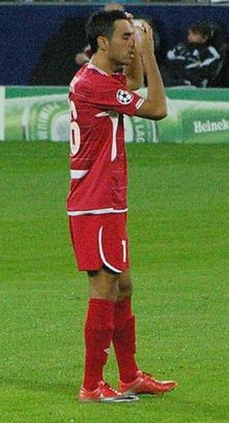 Eran Zahavi - Zahavi before the match with Hapoel Tel Aviv 2010