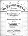 Zeitungsanzeige, Otto Seidemann, Bauunternehmer, Maurer- und Zimmermeister.png