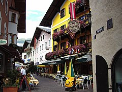 Centre-ville de Zell am See.