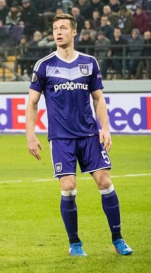 Uroš Spajić - Spajić with Anderlecht in 2017
