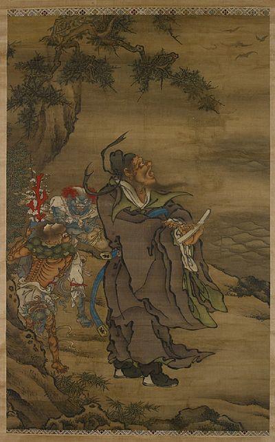 Zhong Kui The Demon Queller With Five Bats Wikipedia