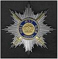 Zilveren ster van de Kroonorde Pruisen IIIe model met de zwaarden van na 1871.jpg