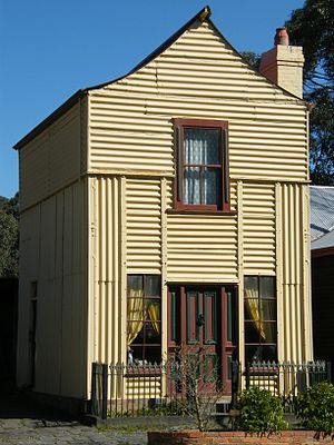 "Prefabrication - ""Loren"" Iron House, at Old Gippstown in Moe, Australia"