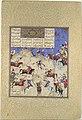 """""""Siyavush Plays Polo before Afrasiyab"""", Folio 180v from the Shahnama (Book of Kings) of Shah Tahmasp MET DP107142.jpg"""