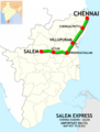 (Chennai - Salem) Express route map.png