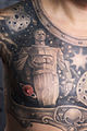 (Man) Chest tattoo. Monument to Yuri Gagarin (astronaut) in Moscow. Color.jpg