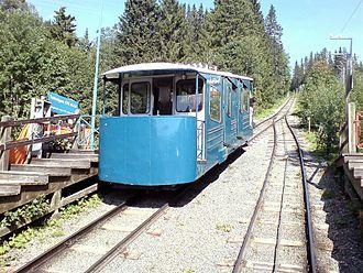 Åre Bergbana - Funicular car and rails