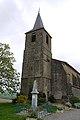 Église Saint-Abdon-et-Saint-Sennen de Labéjan - Clocher et MAM.jpg