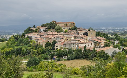 View of Laurac, Aude, France