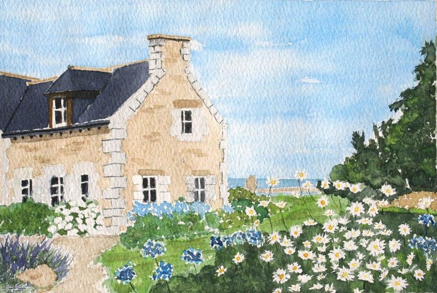 Bréhat (Côte-d'Armor - France), la petite maison fleurie.
