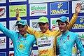 Österreich-Rundfahrt 2013 Wien Siegerehrung Alexander Djatschenko, Riccardo Zoidl, Kevin Seeldraeyers 02.jpg