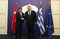 Συνάντηση Αντιπροέδρου της Κυβέρνησης και ΥΠΕΞ Ευ. Βενιζέλου με ΥΠΕΞ Τουρκίας Α. Davutoglu (13.12.2013) (11355616323).jpg