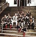 Дмитро Мухарський із групою каскадерів, Новгород-Сіверський, 2004 р.jpg