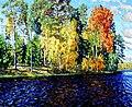 Лесное озеро. Золотая осень (Синяя вода).jpg
