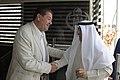 عزيز الديحاني السفير الكويتي في الأردن مع رئيس تحرير الدستور مصطفى الريالات 07.jpg