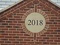 -2019-08-19 Date plaque on House, Nightjar Road, Holt.JPG
