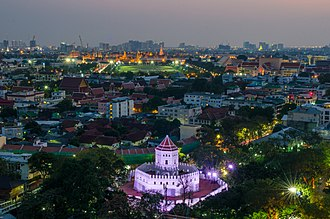 Fortifications of Bangkok - Phra Sumen Fort is one of the remaining original forts that guarded the city of Rattanakosin.