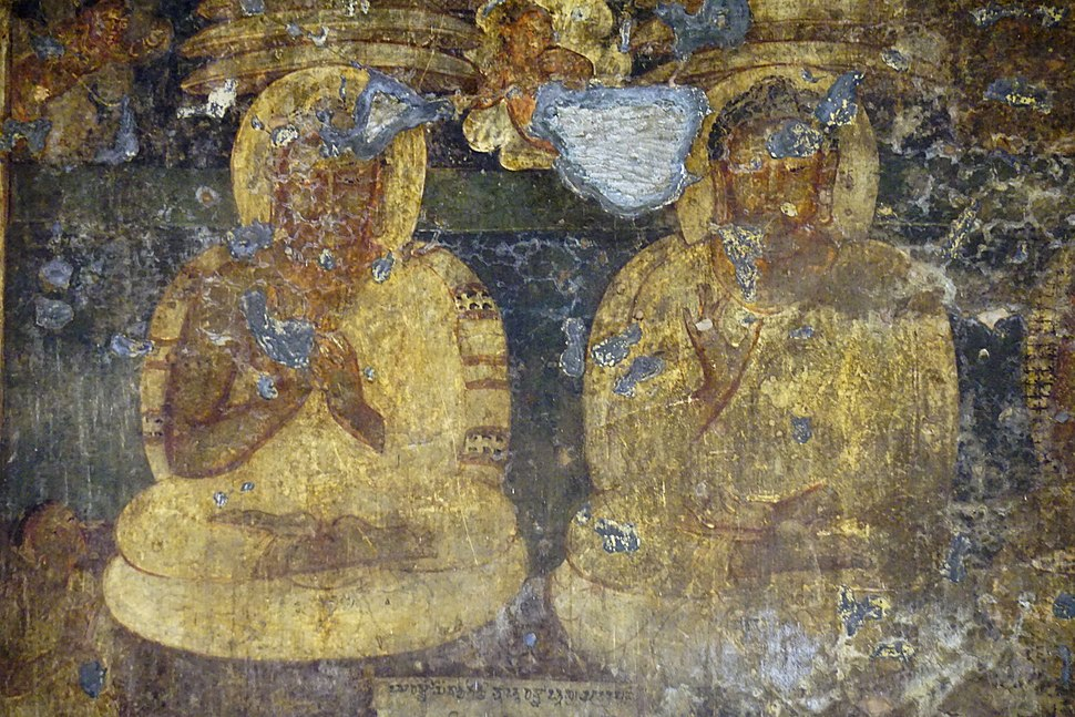 019 Cave 16, Buddha Paintings, with Inscription (34141152992)