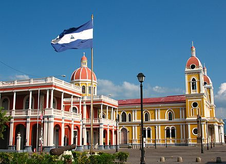 The Colonial City of Granada near Lake Nicaragua is one of the most visited sites in Central America. 06.Plaza de la Independencia de Granada.JPG