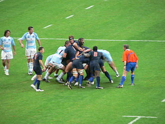 France at the Rugby World Cup - France playing Argentina during the 2007 Rugby World Cup tournament