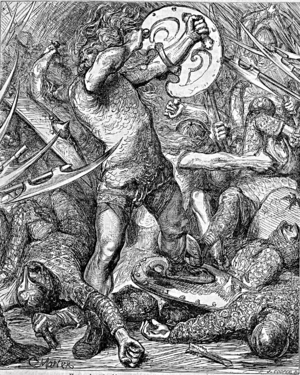 Hereward the Wake - Image: 097 Hereward fighting Normans