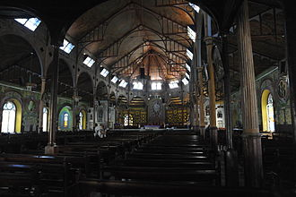 Cathedral Basilica of the Immaculate Conception in Castries - Interior of Castries Cathedral, St. Lucia