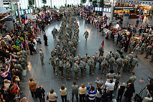 76th Infantry Brigade Combat Team (United States) - 76th IBCT soldiers redeploy from Iraq.